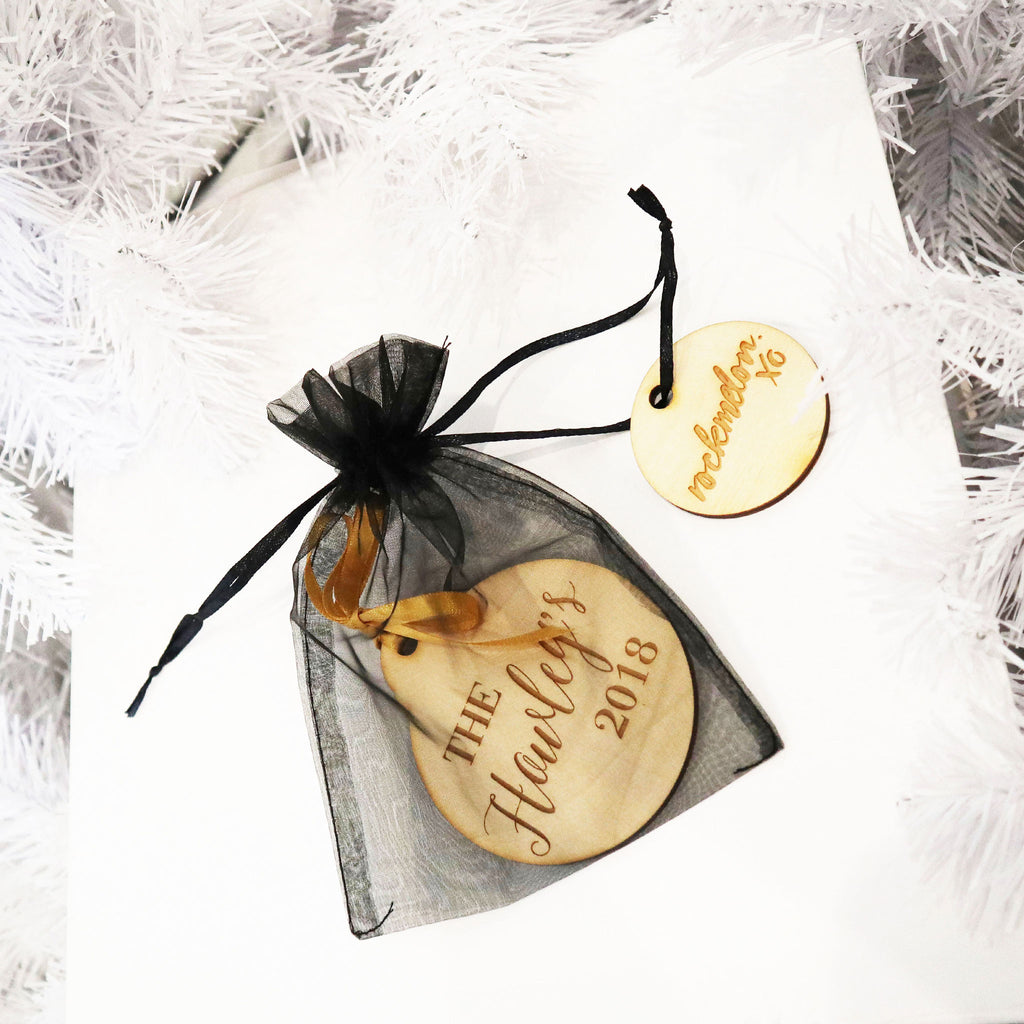 Christmas Gift Tag- Timber
