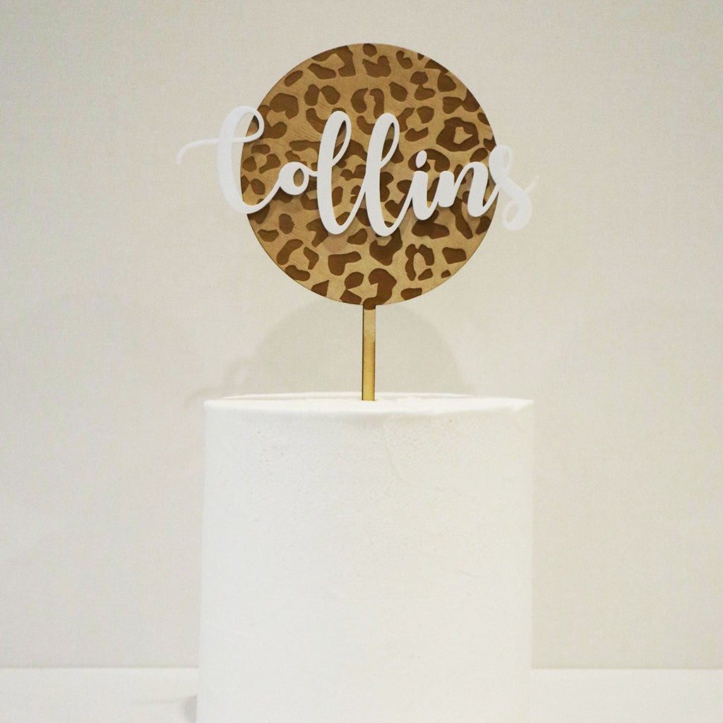Animal Print 3D Script Name Circle
