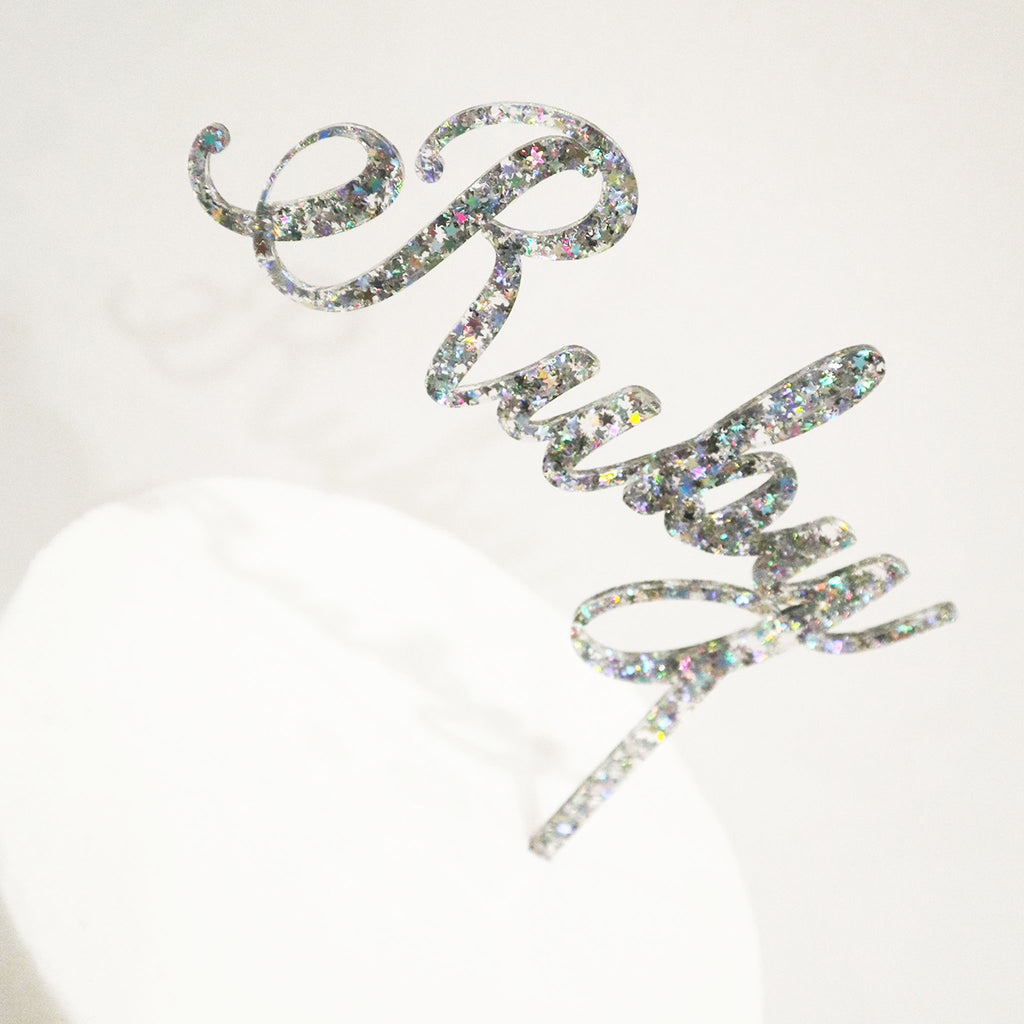 Elegant Name Cake Topper