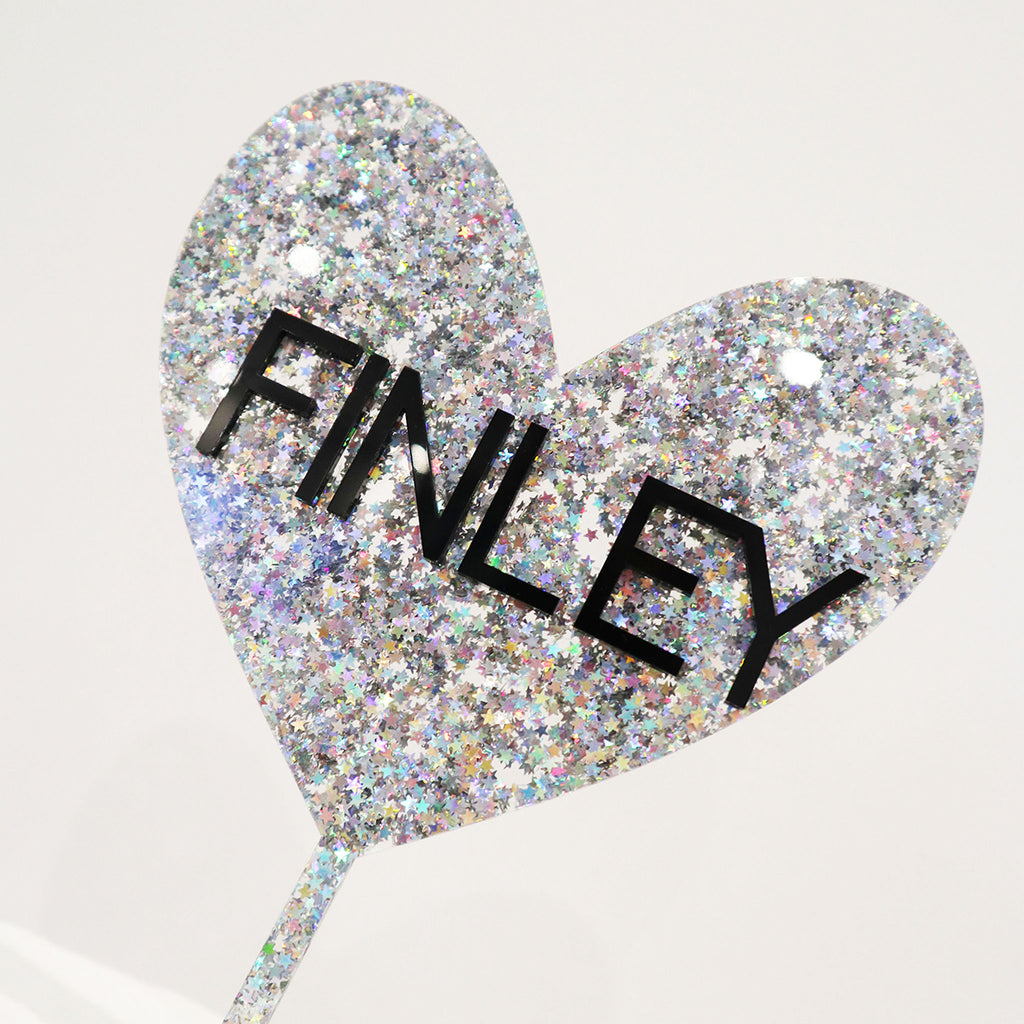 3D Heart Layered Name