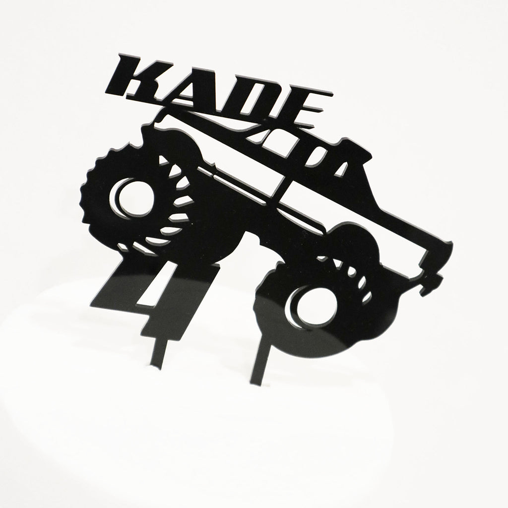 Monster Truck Name & Age Cake Topper