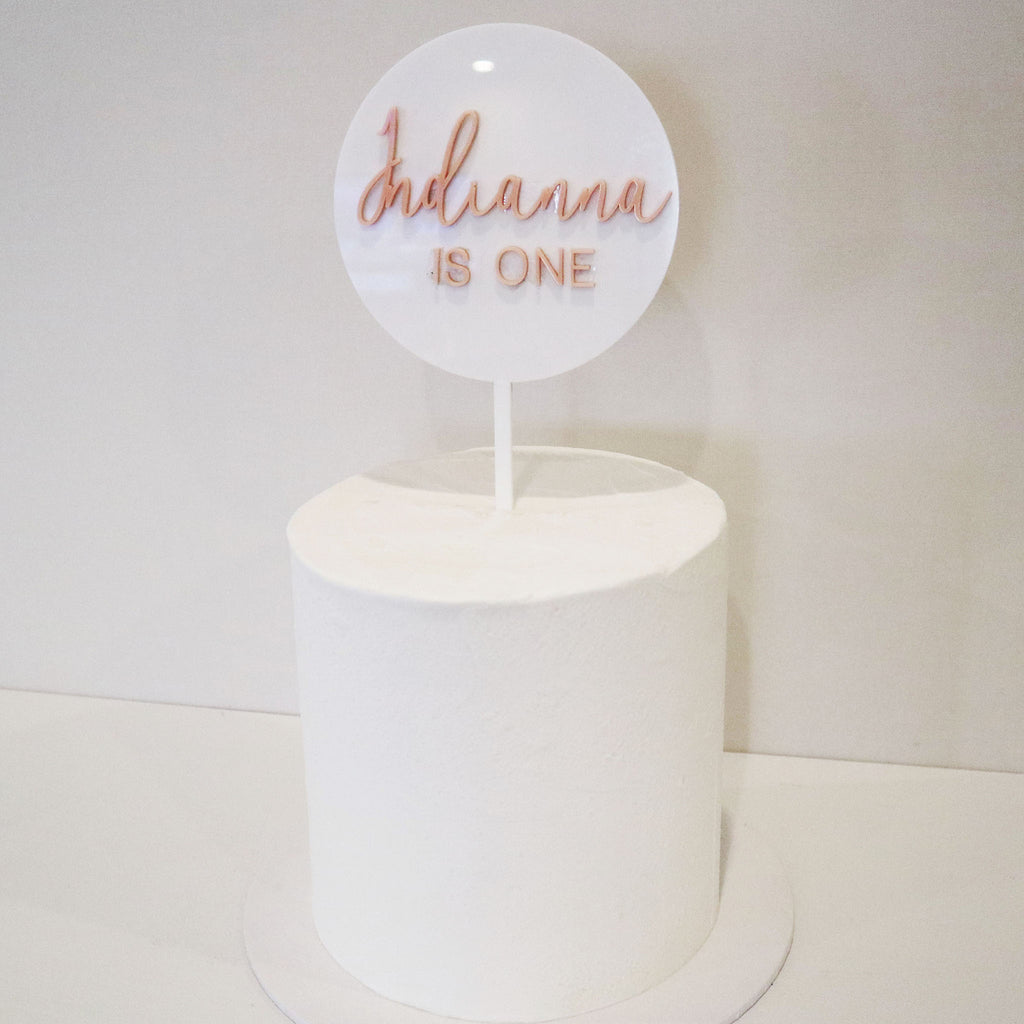 Summer Script Name & Age 3D Layered Circle
