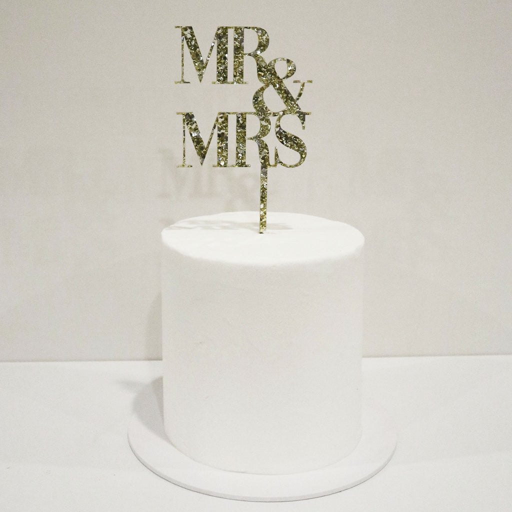 Mr & Mrs Royal Wedding Cake Topper
