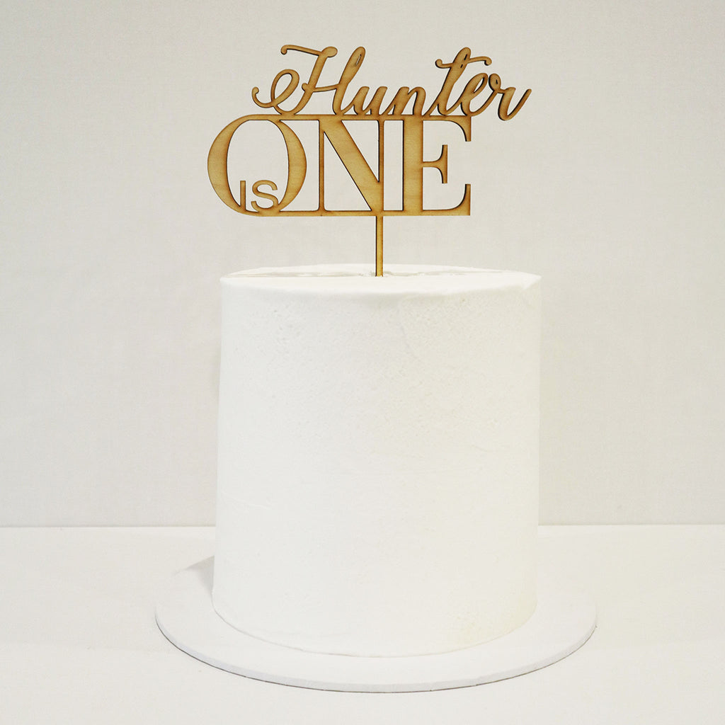 Elegant Name Royal Age Cake Topper