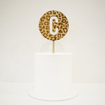 Animal Print Letter Cut Out Circle