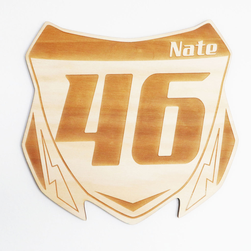 Motorbike Personalised Number Plaque