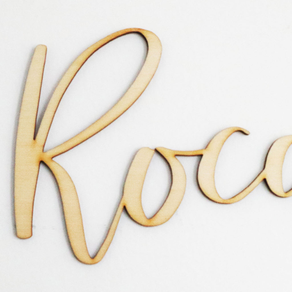 Peppy Script Name Plaque-Small