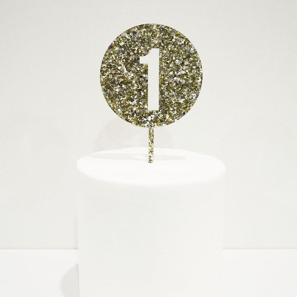 Number Cut Out Circle Cake Topper