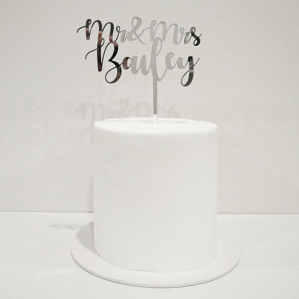 Curly Wedding Cake Topper