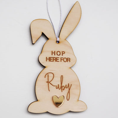Hop For Personalised Bunny- 20cm