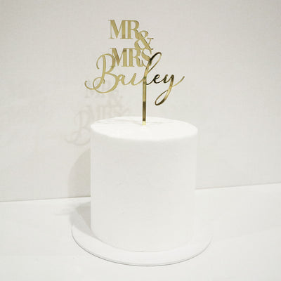 Contrast Wedding Cake Topper