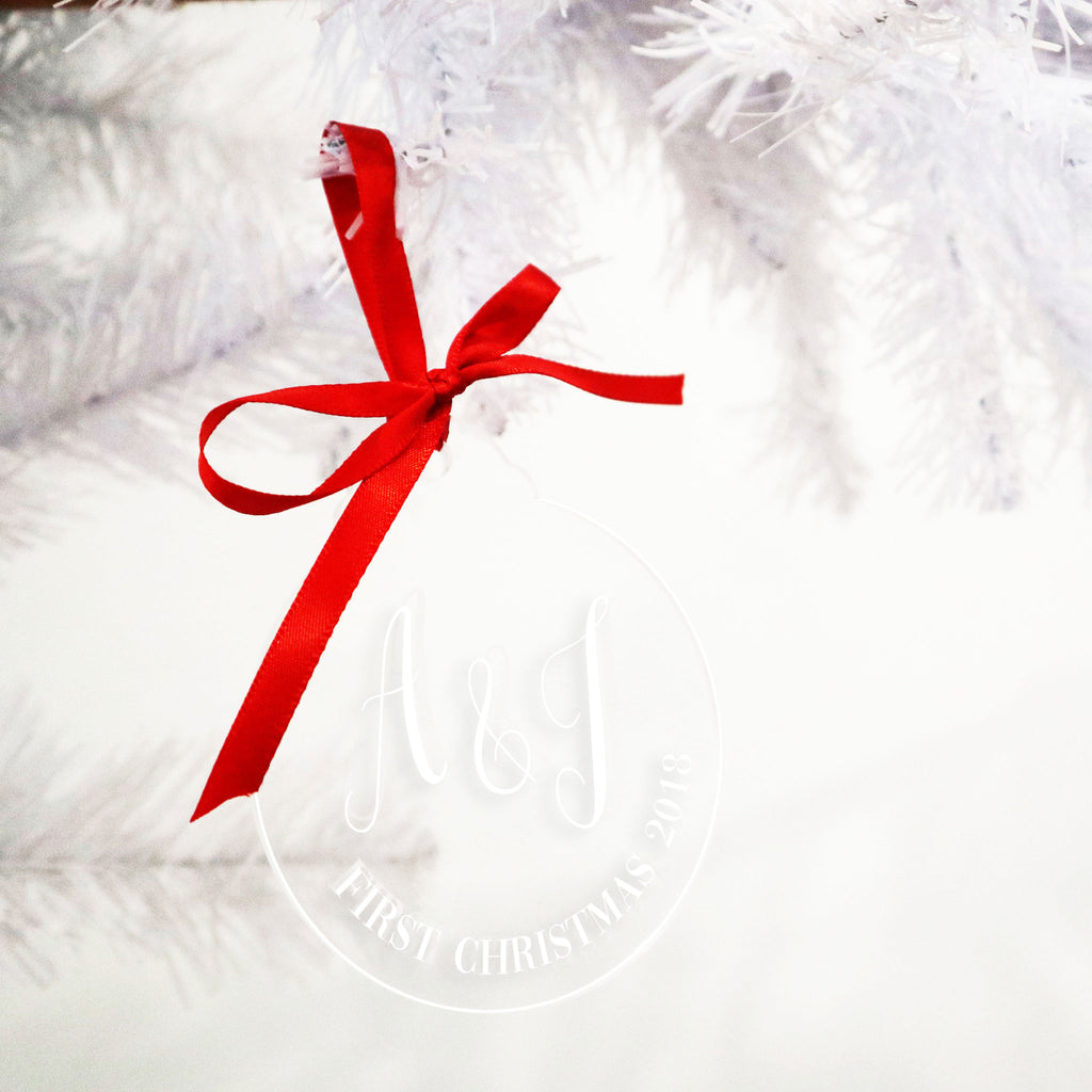 Initials Acrylic Christmas Bauble