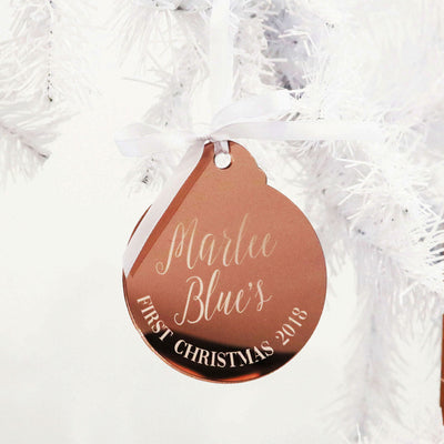 Scripted Acrylic Christmas Bauble