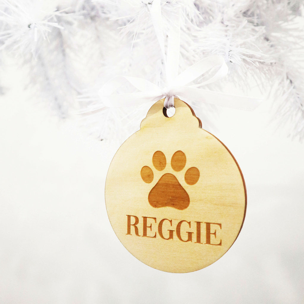Pet Timber Christmas Bauble