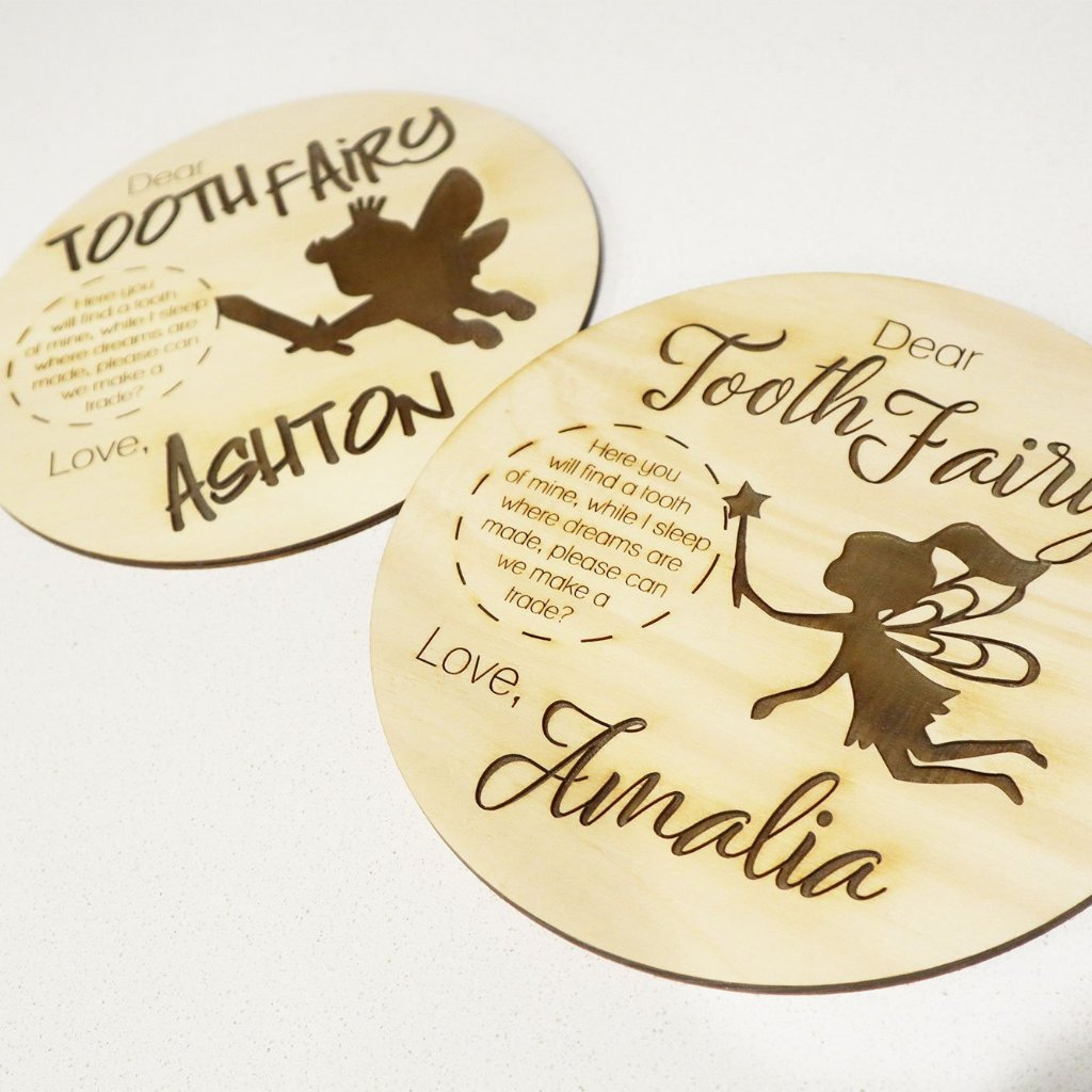 Personalised Tooth Fairy Place matt Board
