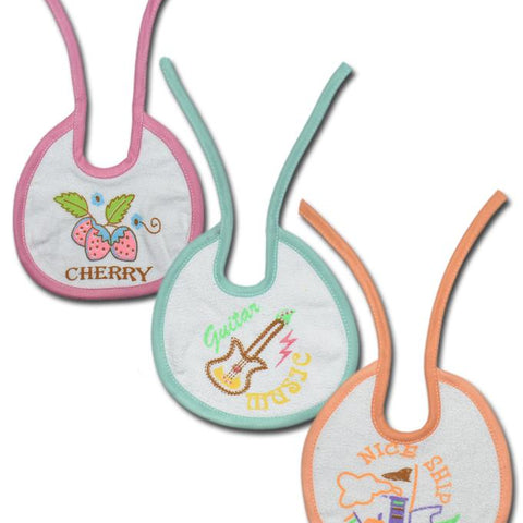 Baby Pack Of 3- Printed Bibs