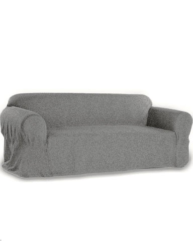 5 Seats Jersey Sofa Cover - Grey