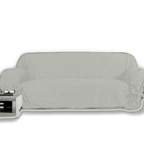 7 Seats Jersey Sofa Cover - Light Grey