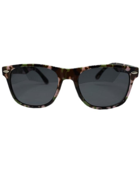 Black with Camouflage Print Sunglasses for Kids