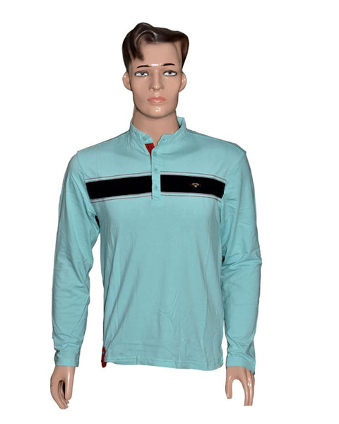 Men Long Sleeves T-Shirt - Sea Green
