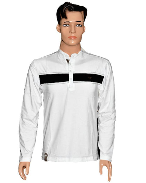 Men Long Sleeves T-Shirt - White
