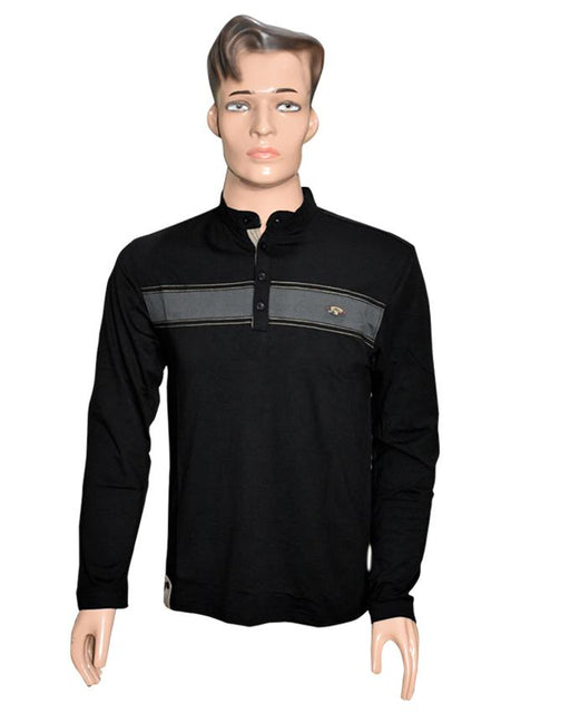 Men Long Sleeves T-Shirt - Black