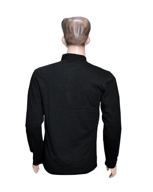 Men Long Sleeves T-Shirt - Black - Hiffey