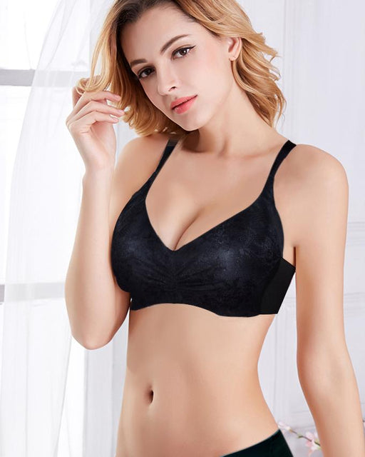Sister Hood Lace Wire Free Padded Lingerie Bra for Women - Hiffey