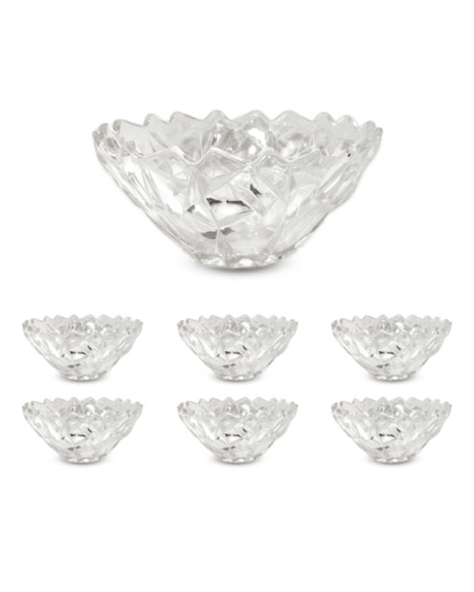 Delisoga High Quality Glassware Bowl Soup Set 7 Pieces