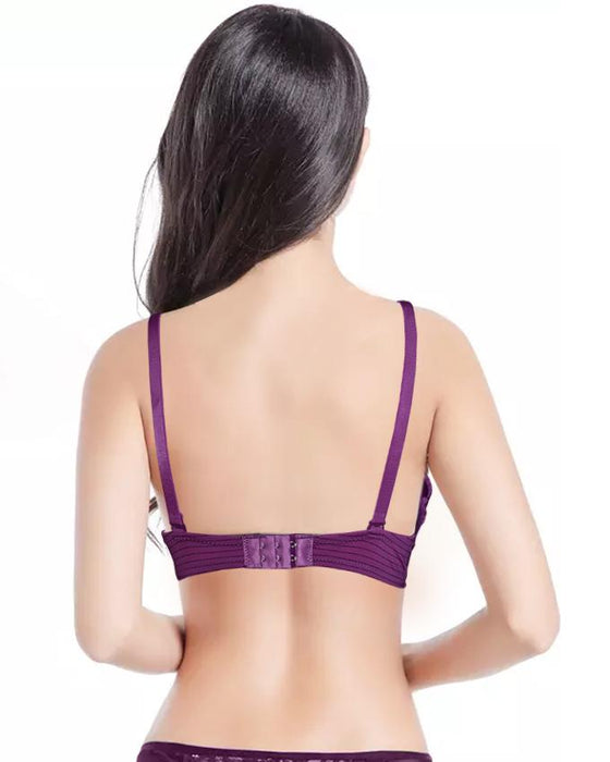 Sister Hood Wired Plunge Padded Push Up Bra - Hiffey