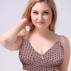 Plus Size Full Coverage Wire Free Non Padded Cotton Bra