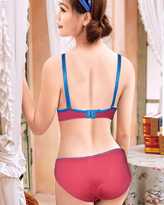 Cute Simply Padded Bra And Panty Set With For Ladies - Hiffey
