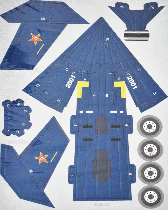 3D Puzzle Toy - Chinese J-20 Stealthy Aircraft