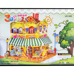 3D Puzzle Toy - Cafe XY-342