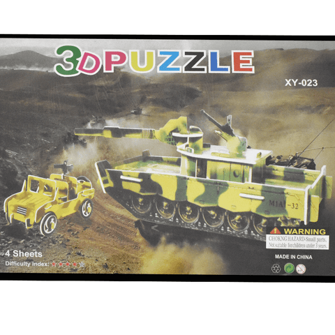 3D Puzzle Toy - Battle Tank