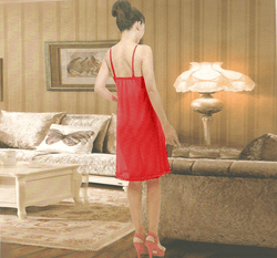 Women Sexy Nightwear Lace Sleepwear Short Nighty - 9013