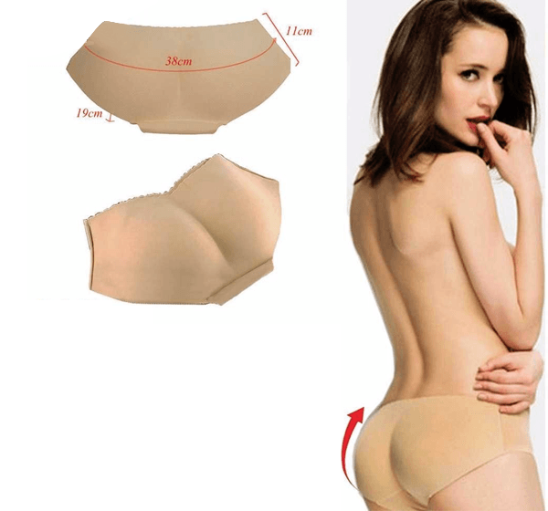 Women Padded Body Shapper Underpants High Waist Hip Enhancer Push Up Panty