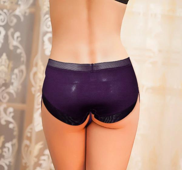 FANCY NET PANTY FOR WOMEN - PURPLE - Hiffey
