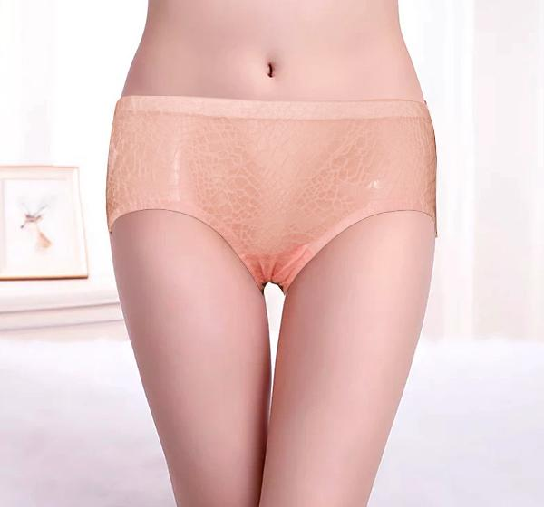 Peach Pure Cotton Soft Transparent Lingerie Panty for Ladies - Hiffey
