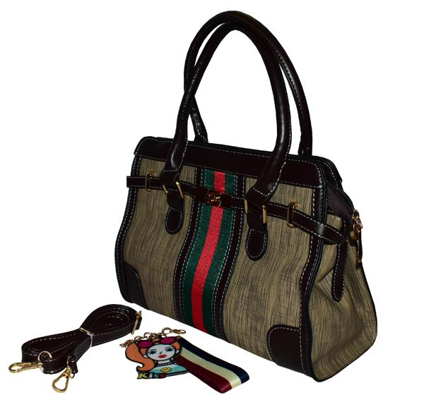 Gucci Classic PU Leather Handbag for Ladies - Brown - Hiffey