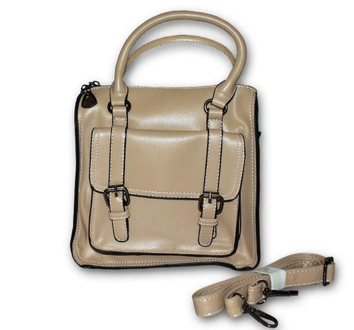 Fashion Tote PU Leather Bag for Ladies - Beige - Hiffey