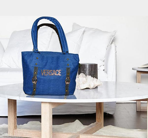 Casual PU Leather Handbags for Ladies - Blue - Hiffey