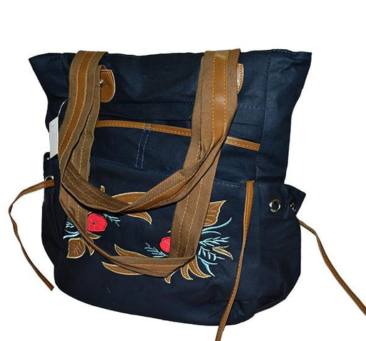 Elegant College Shoulder Bags for Girls - Navy Blue - Hiffey