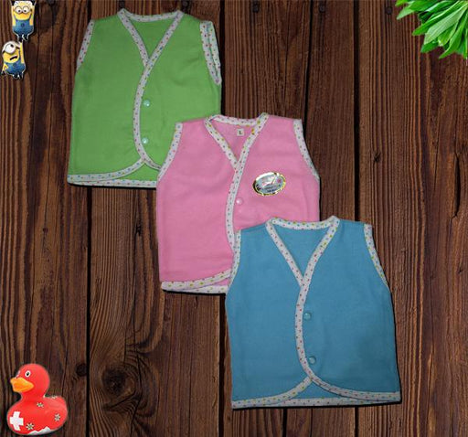 Babies Sleeveless Fleece Vests - Pack of 3 - Hiffey