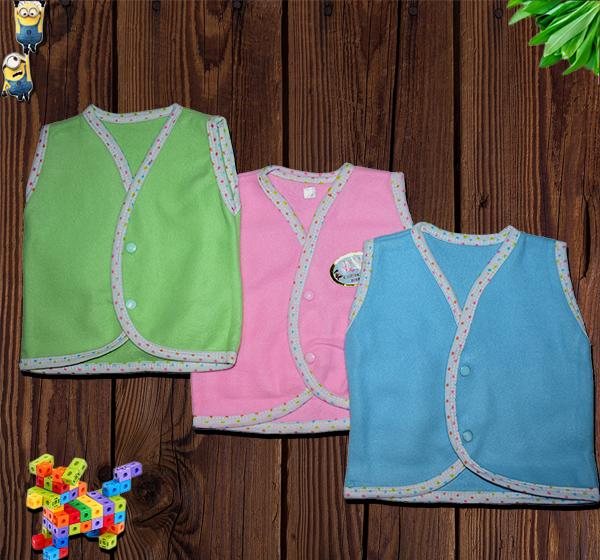 Babies Sleeveless Fleece Vests - Pack of 3