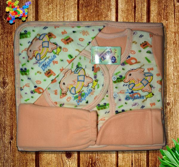 Dolphin Newborn Clothes Gift Set - Orange - Hiffey