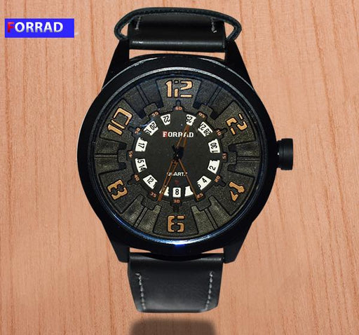 Forrad Analogue Black Dial Watch for Men C154 - Hiffey