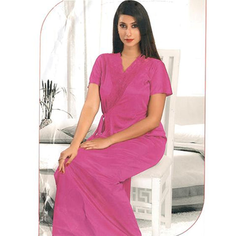 2 Piece Pink Bridal Nighty - 2219 - Hiffey