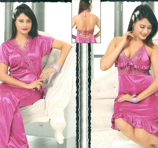 2 Piece Pink Nighty - 501 - Hiffey