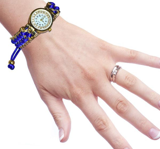 Ribbon Watch for Ladies - Blue - Hiffey